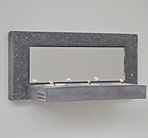 MIRROR 3 TEALIGHTS, BLACK